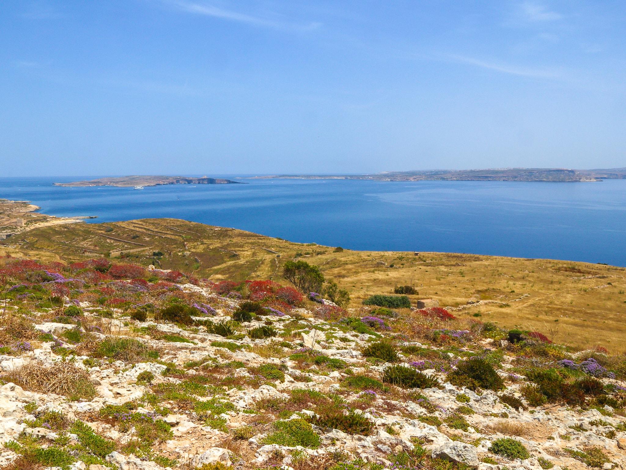 Vista para as ilhas de Comino e Malta