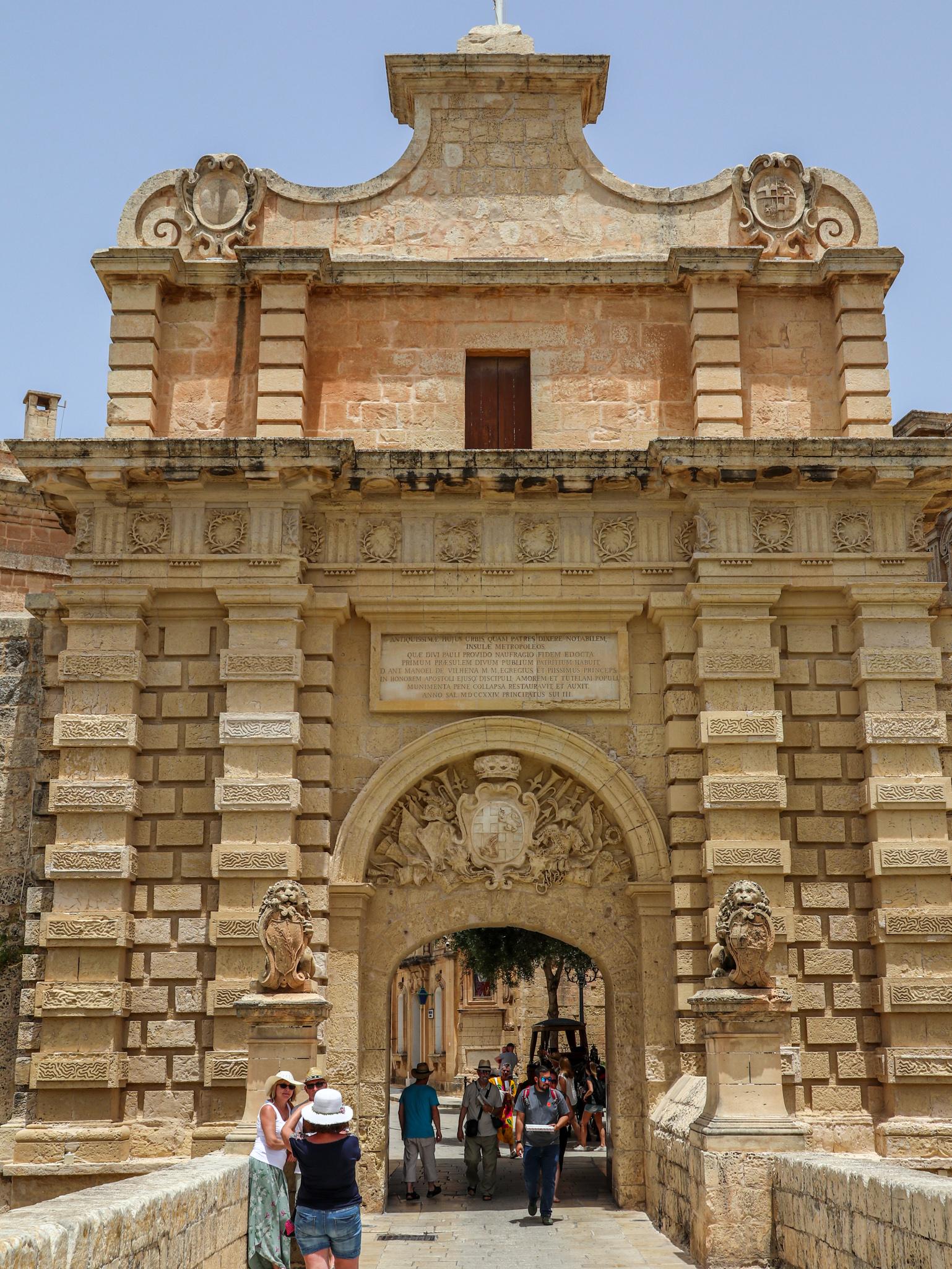portão da cidade de Mdina, malta